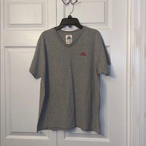 Women's size L Adidas v-neck t-shirt!